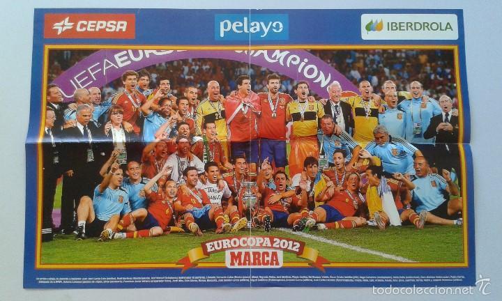 CARTEL POSTER SELECCIÓN ESPAÑOLA DE FÚTBOL -- CAMPEÓN EUROCOPA 2012 -- ESPAÑA -- PERIÓDICO MARCA (Coleccionismo Deportivo - Carteles de Fútbol)