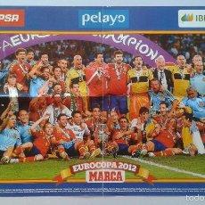Coleccionismo deportivo: CARTEL POSTER SELECCIÓN ESPAÑOLA DE FÚTBOL -- CAMPEÓN EUROCOPA 2012 -- ESPAÑA -- PERIÓDICO MARCA. Lote 221882291