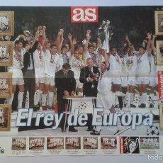 Collezionismo sportivo: CARTEL / POSTER REAL MADRID -- CAMPEÓN DE EUROPA 1998 (CHAMPIONS LEAGUE ) -- PERIÓDICO AS --. Lote 58512737