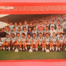 Collectionnisme sportif: MINI POSTER CD CASTELLON 88/89 - REVISTA FUTGOL LIGA TEMPORADA 1988/1989 LAMINA PLANTILLA FUTBOL. Lote 59604095