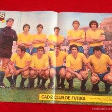 Coleccionismo deportivo: CARTEL POSTER AS COLOR PLANTILLA CADIZ. Lote 59851108