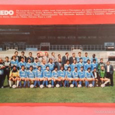 Collectionnisme sportif: MINI POSTER REAL OVIEDO 88/89 - REVISTA FUTGOL LIGA TEMPORADA 1988/1989 LAMINA PLANTILLA FUTBOL. Lote 60213407
