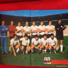 Coleccionismo deportivo: CARTEL POSTER AS COLOR PLANTILLA SALAMANCA TEMPORADA 1973 1974. Lote 60263315