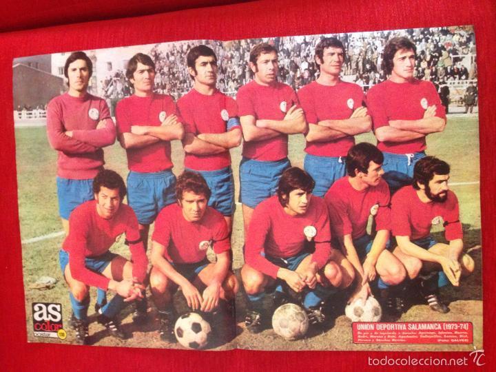 CARTEL POSTER AS COLOR PLANTILLA UNION DEPORTIVA SALAMANCA TEMPORADA 1973 1974 (Coleccionismo Deportivo - Carteles de Fútbol)