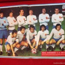 Coleccionismo deportivo: CARTEL POSTER AS COLOR PLANTILLA REAL ZARAGOZA TEMPORADA 1973 1974. Lote 60263799