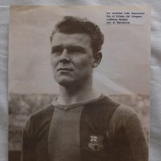 Coleccionismo deportivo: KUBALA. F.C. BARCELONA 1951-1952. RECORTE. Lote 60278487