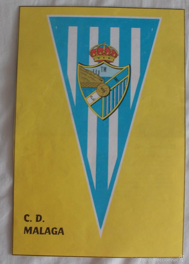 C.D. MÁLAGA 1951-1952. BANDERÍN. HOJA DE REVISTA (Coleccionismo Deportivo - Carteles de Fútbol)