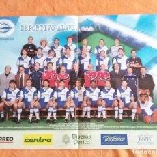 Coleccionismo deportivo: POSTER DEL DEPORTIVO ALAVES DE VITORIA. AÑO 2001 2002. FUTBOL. Lote 61680828