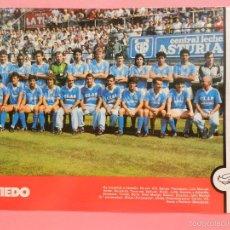 Collectionnisme sportif: MINI POSTER REAL OVIEDO 87/88 - REVISTA FUTGOL LIGA TEMPORADA 1987/1988 LAMINA PLANTILLA FUTBOL. Lote 61709148