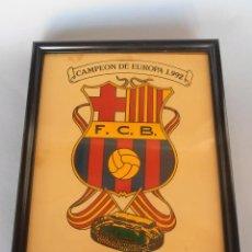 Coleccionismo deportivo: ESCUDO DEL BARCELONA CAMPEON 1992 #BV-R. Lote 61842044