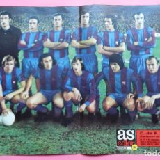 Coleccionismo deportivo: POSTER GRANDE FC BARCELONA CAMPEON LIGA 73/74 ALINEACION BARÇA 1973/1974 Nº 149 REVISTA AS COLOR. Lote 62660836