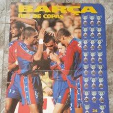 Coleccionismo deportivo: POSTER GIGANTE FC BARCELONA BARÇA REY DE COPAS , EL MUNDO DEPORTIVO. Lote 62771028