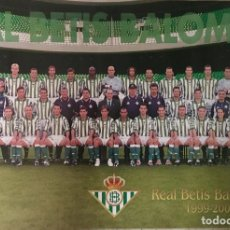 Coleccionismo deportivo: PÓSTER REAL BETIS 1999 - 2000. Lote 62898067