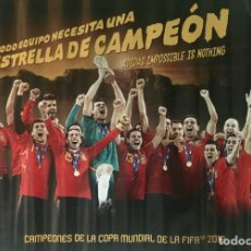 Coleccionismo deportivo: PÓSTER SELECCIÓN ESPAÑOLA DE FÚTBOL 2010. Lote 62901143