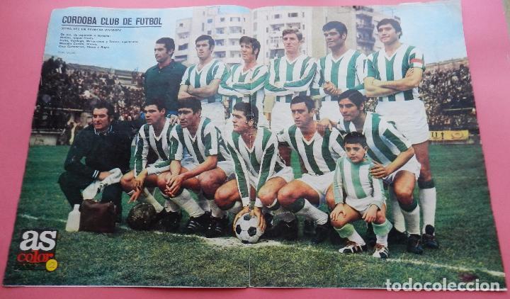 POSTER GRANDE CORDOBA CF 70/71 ALINEACION LIGA 1970/1971 Nº 12 AS COLOR ASCENSO PRIMERA DIVISION (Coleccionismo Deportivo - Carteles de Fútbol)