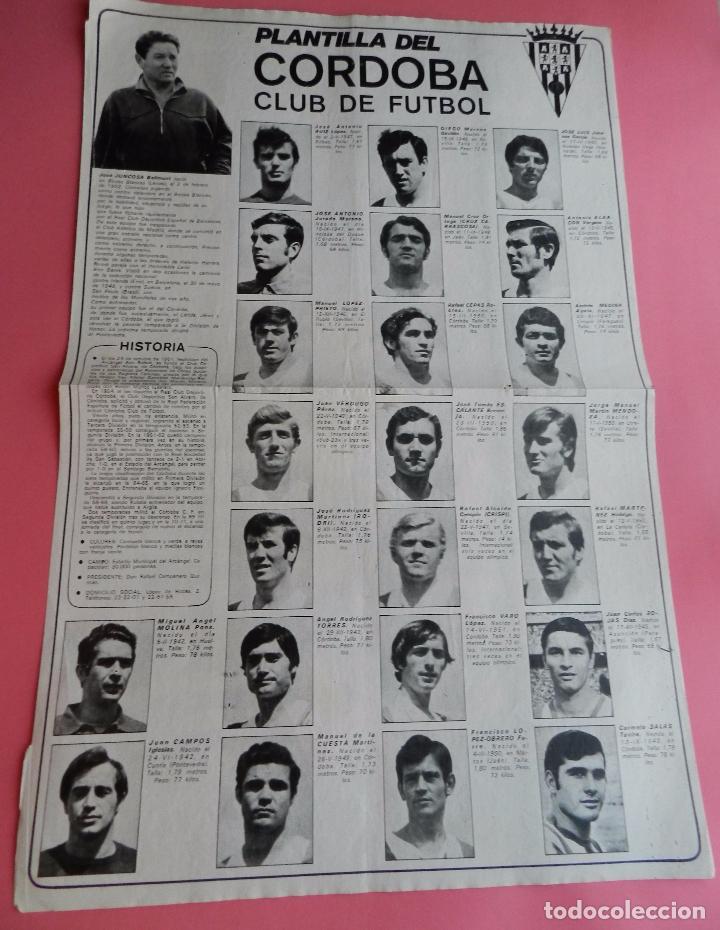 Coleccionismo deportivo: POSTER GRANDE CORDOBA CF 70/71 ALINEACION LIGA 1970/1971 Nº 12 AS COLOR ASCENSO PRIMERA DIVISION - Foto 2 - 62985984