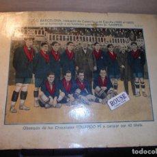 Coleccionismo deportivo: ANTIGUO CARTEL Nº 13 SERIE 4ª EL F.C. BARCELONA CAMPEON DE CATALUÑA Y ESPAÑA 1922 -1923 HANS GAMPER,. Lote 63568460