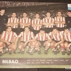 Coleccionismo deportivo: ATHLETIC CLUB DE BILBAO - POSTER/CARTEL/LÁMINA EQUIPO AÑO 1964 - TELE EXPRES - 24,5 X 33,5 -. Lote 121812746
