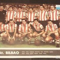 Coleccionismo deportivo: ATHLETIC CLUB DE BILBAO - POSTER/CARTEL/LÁMINA EQUIPO AÑO 1967 - TELE EXPRES - 24,5 X 33,5 -. Lote 121812732