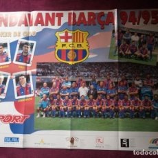Coleccionismo deportivo: POSTER FC BARCELONA SPORT 94 / 95 FUTBOL / 81 X 61 CM. Lote 68297833