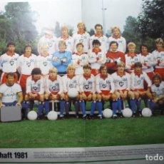Coleccionismo deportivo: POSTER PLANTILLA DEL HAMBURGO ALEMAN-1981 -FIRMAS JUGADORES IMPRESAS. Lote 68750877