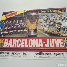 Sammelleidenschaft Sport - CARTEL POSTER SPORT - FC BARCELONA VS JUVE - COPA EUROPA 1986 - 70156917