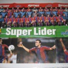 Coleccionismo deportivo: POSTER FUTBOL PLANTILLA F. C. BARCELONA 1997 - 1998. Lote 70265741