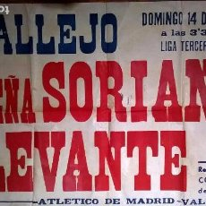 Coleccionismo deportivo: CARTEL DE FÚTBOL LEVANTE UD.MEDIDA. Lote 71504867