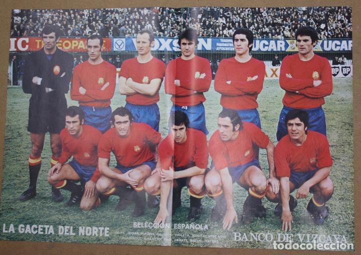 CARTELES ATHLETIC CLUB BILBAO 1972-73 - BARACALDO C.F. Y SELECCION ESPAÑOLA. LA GACETA DEL NORTE (Coleccionismo Deportivo - Carteles de Fútbol)