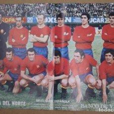 Coleccionismo deportivo: CARTELES ATHLETIC CLUB BILBAO 1972-73 - BARACALDO C.F. Y SELECCION ESPAÑOLA. LA GACETA DEL NORTE. Lote 75239159