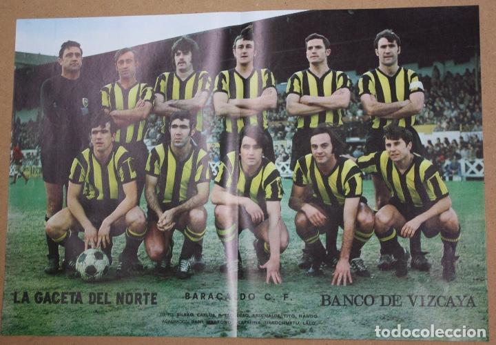 Coleccionismo deportivo: CARTELES ATHLETIC CLUB BILBAO 1972-73 - BARACALDO C.F. Y SELECCION ESPAÑOLA. LA GACETA DEL NORTE - Foto 2 - 75239159