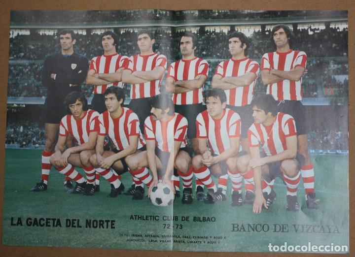 Coleccionismo deportivo: CARTELES ATHLETIC CLUB BILBAO 1972-73 - BARACALDO C.F. Y SELECCION ESPAÑOLA. LA GACETA DEL NORTE - Foto 3 - 75239159