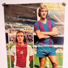 Coleccionismo deportivo: JOHAN NEESKENS POSTER 33,5X 51,5 1974. Lote 75355583