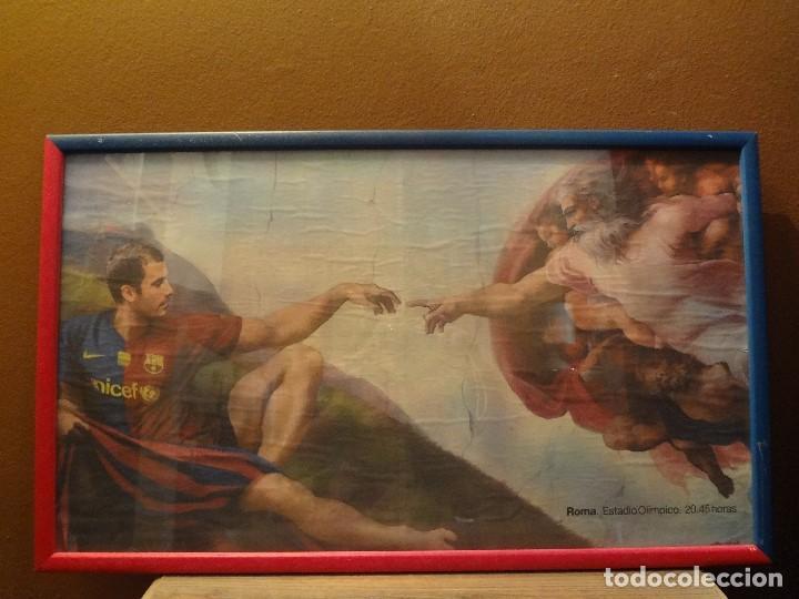 Coleccionismo deportivo: Cuadro BARÇA de PEP GUARDIOLA año 2009 - Foto 3 - 75428051