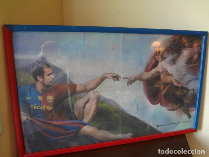 Coleccionismo deportivo: Cuadro BARÇA de PEP GUARDIOLA año 2009 - Foto 4 - 75428051