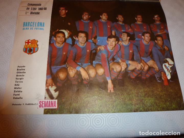 POSTER LÁMINA REVISTA SEMANA F.C.BARCELONA 1965-66-BARÇA- ÚNICO EN TODOCOLECCIÓN. (Coleccionismo Deportivo - Carteles de Fútbol)