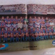 Coleccionismo deportivo: POSTER F.C.BARCELONA TEMP. 88-89-(BARÇA)-28CM X 42CM.. Lote 75716535