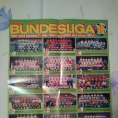 Coleccionismo deportivo: PÓSTER BUNDESLIGA 1988-89 - RAMBO III STALLONE 52X40. Lote 75916153