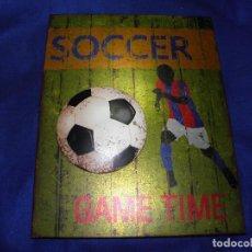 Coleccionismo deportivo: CARTEL DE METAL FUTBOL SOCCER. Lote 76160455
