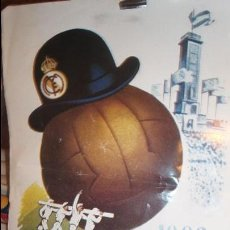 Coleccionismo deportivo: CARTEL REAL MADRID BODAS DE ORO 1902 1952 DE LA REVISTA AS COLOR. Lote 76717243