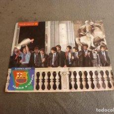 Coleccionismo deportivo: (MS)POSTER ORIGINAL F.C.BARCELONA CAMPEÓN COPA EUROPA 1992 WEMBLEY(30 X 38 CM)BARÇA,CRUYFF,KOEMAN.. Lote 77293425