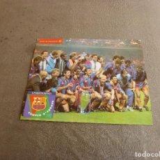 Coleccionismo deportivo: (MS)POSTER ORIGINAL F.C.BARCELONA CAMPEÓN COPA EUROPA 1992 WEMBLEY(30 X 38 CM)BARÇA,CRUYFF,KOEMAN.. Lote 77293553