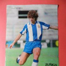 Collectionnisme sportif: POSTER ZUÑIGA RCD ESPAÑOL 80/81 - ESPANYOL LIGA 1980-1981 REVISTA DON BALON. Lote 77624673