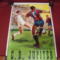 Coleccionismo deportivo: GRAN CARTEL DE FUTBOL DEL IGUALADA TERCERA DIVISION CONTRA EL G.D.JUPITER,DEL 1980. Lote 78292109