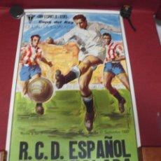 Coleccionismo deportivo: GRAN CARTEL DE FUTBOL DEL IGUALADA TERCERA DIVISION COPA DEL REY CONTRA C.D.ESPAÑOL DEL 1980. Lote 78292381
