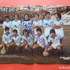 Coleccionismo deportivo: POSTER REAL SOCIEDAD 80/81 - REVISTA DON BALON ALINEACION LIGA TEMPORADA 1980/1981 ARCONADA. Lote 79636157