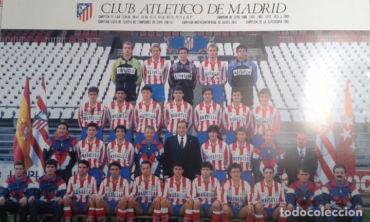 CARTEL POSTER OFICIAL PLANTILLA OFICIAL 1990/1991 CON FIRMAS. CAMPEONES SÉPTIMA COPA DEL REY. (Coleccionismo Deportivo - Carteles de Fútbol)