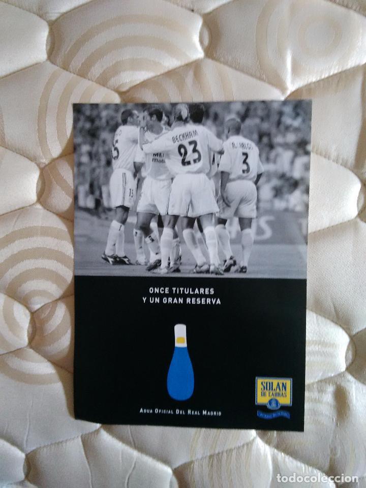 LÁMINA REAL MADRID 1 PÁGINA, PUBLICIDAD SOLAN DE CABRAS: ROBERTO CARLOS, BECKHAM, RAÚL BRAVO... (Coleccionismo Deportivo - Carteles de Fútbol)