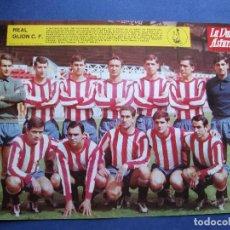 Coleccionismo deportivo: LA VOZ DE ASTURIAS REAL GIJON C.F. ENCARTE CON MAS DE 50 AÑOS. 1967 PDELUXE. Lote 81892524