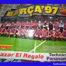 Coleccionismo deportivo: POSTER FUTBOL BARÇA 97 PUBLICADO POR SPORT MIDE 80/60. Lote 83011120
